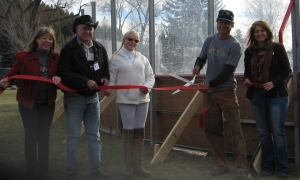 Ice Rink Ribbon Cutting