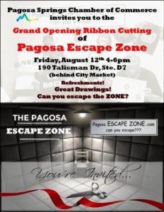 Pagosa Escape Zone Ribbon Cutting