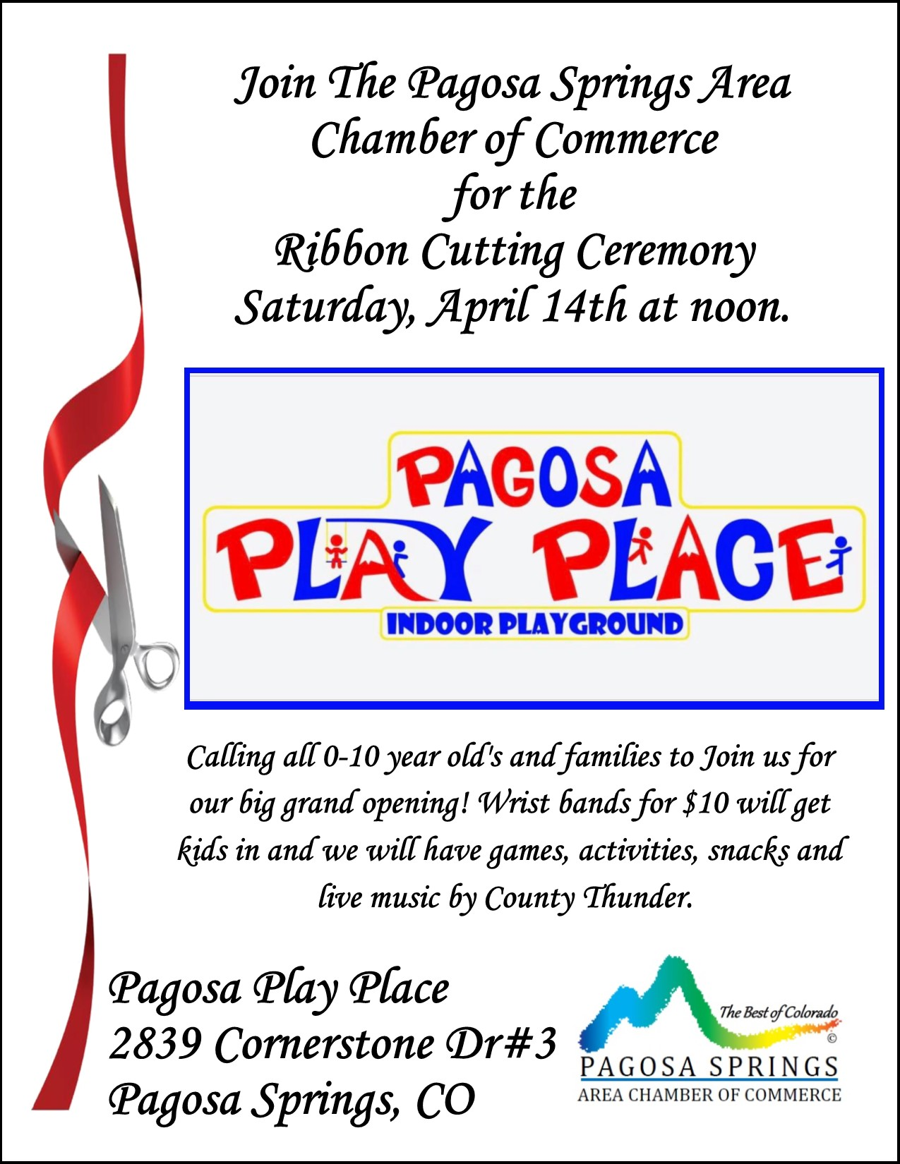 Ribbon Cutting for Pagosa Play Place