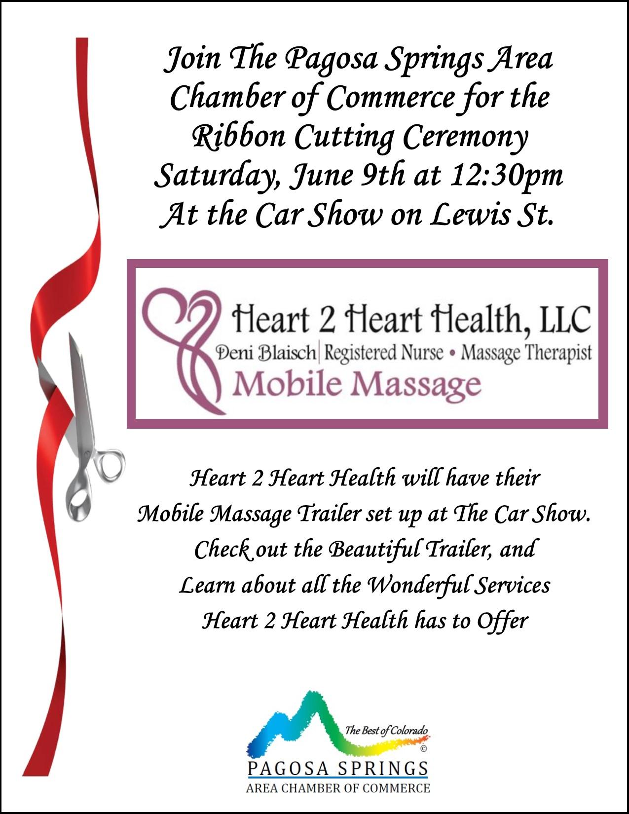Ribbon Cutting for Heart 2 Heart Health