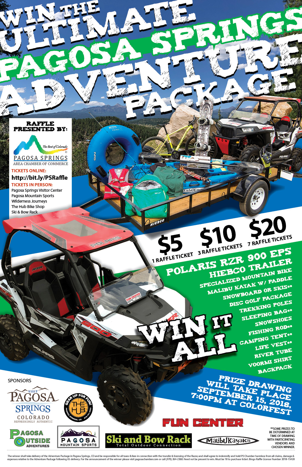 Pagosa Springs Adventure Raffle
