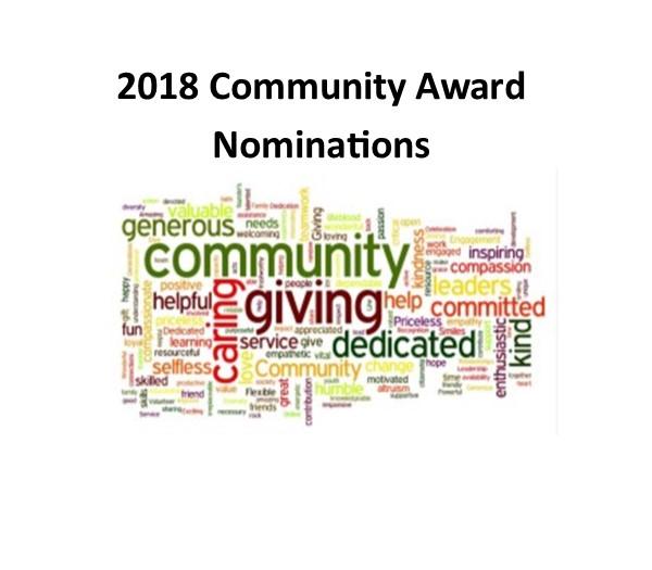 2018 Community Award Nominations