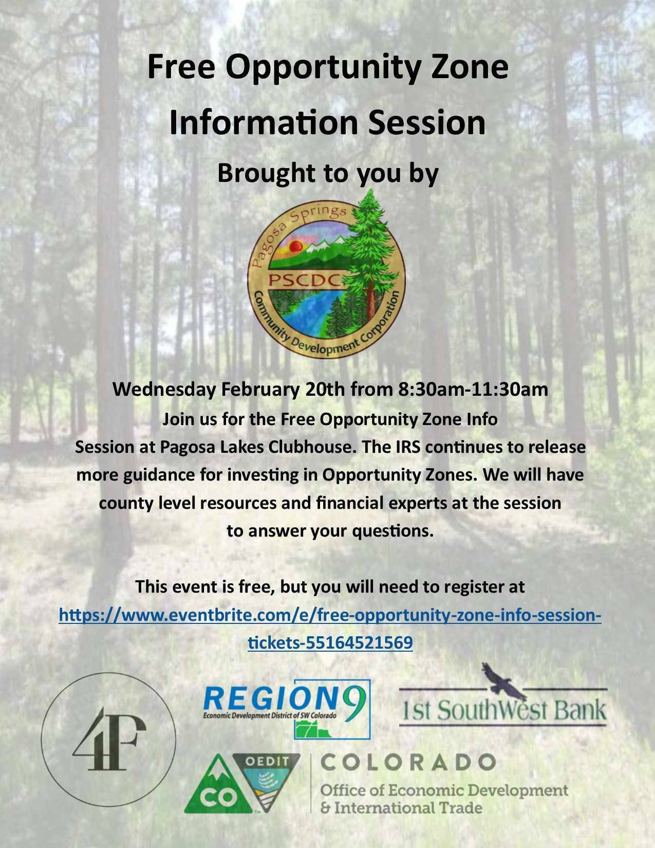 Free Opportunity Zone Information Session