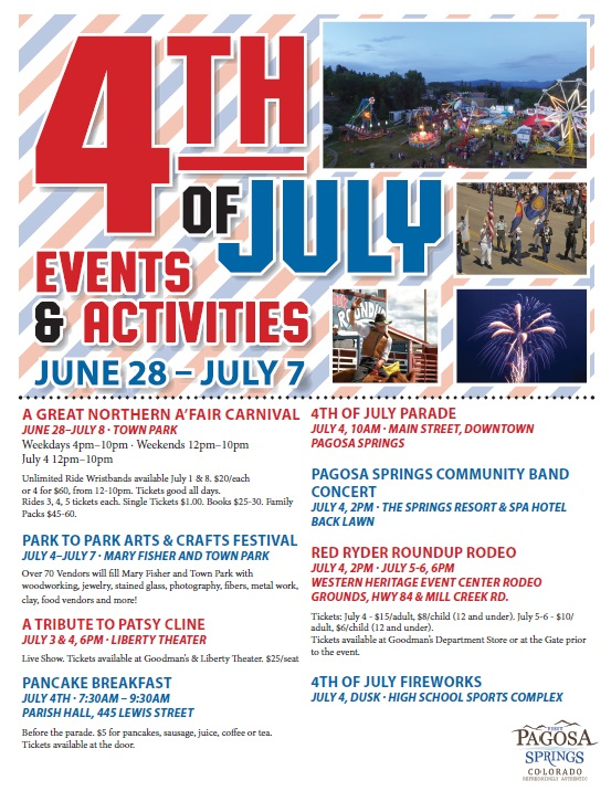 4th of July Information